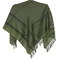 100% Cotton Military Shemagh Arab Scarf Tactical Desert Keffiyeh Thickened Scarf Wrap