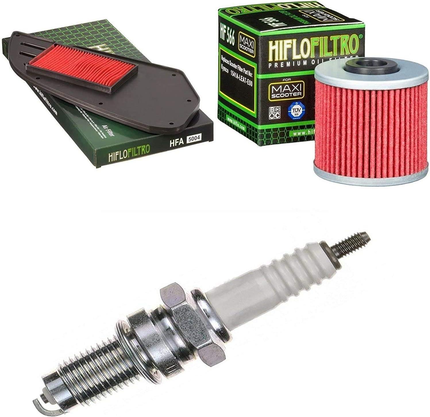 Pamoto Filtro de aire Filtro de aceite Bujía G5 125 i 2009 – 2017 Kit de mantenimiento: Amazon.es: Coche y moto