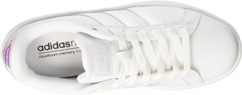 adidas Cloudfoam Advantage, Sneakers Basses Femme Blanc (Ftwwht/Ftwwht/Cblack)
