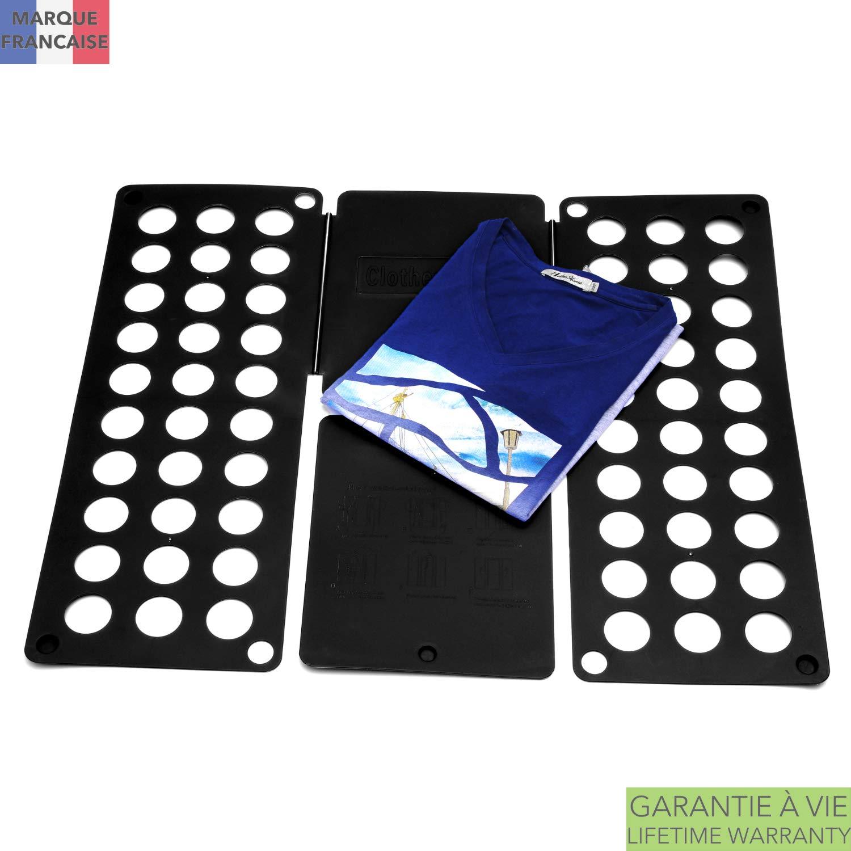 Takit Tabla para Doblar Ropa Negro - 70x59cm - Tabla para Doblar Camisas - Tabla para