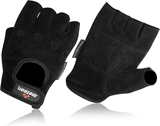 Half Finger less Gloves Weight Lifting Training Biker Driving Wheelchair Mitts