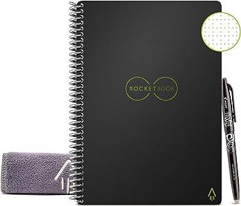 Rocketbook Smart Notebook + 1 Pilot Frixion Pen & 1 Microfiber Cloth