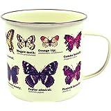 Gift Republic Tasse Papillons, émail, multicolore
