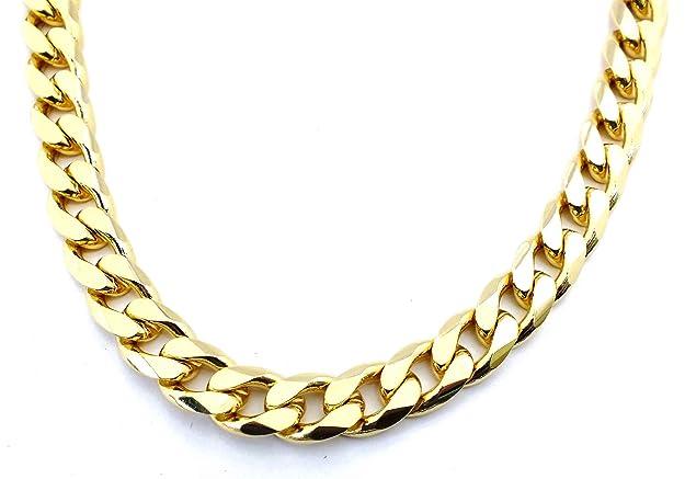 TENDENZE Collar Cadena Gourmette 18k oro doublé 11mm longitud seleccionable directamente desde la fábrica italianahttps://amzn.to/2yTO2Qi