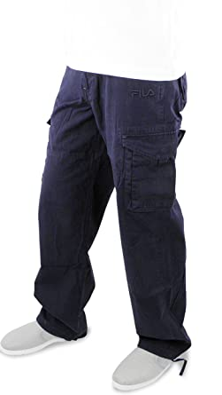 top-rated newest classic fit great discount for Fila Men's Classic Cargo Trousers, Navy Blue,XXL: Amazon.co ...