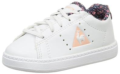 d1ecd053ee05 Le Coq Sportif Courtone Inf Flowers, Chaussures Bébé Marche Fille, Blanc  (Optical White