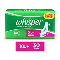 Whisper Ultra Clean Sanitary Pads XL Plus (30 Count)