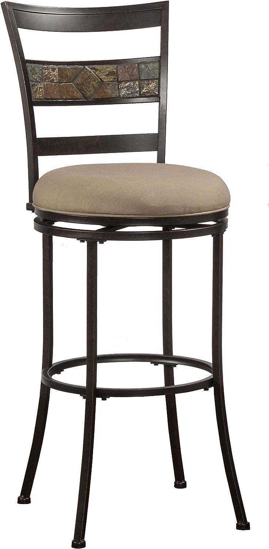 Hillsdale Furniture Henning Bar stool, Height, Midnight Mocha
