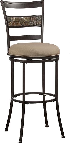 Midnight Mocha Hillsdale Furniture Henning Indoor Outdoor Counter Stool Height