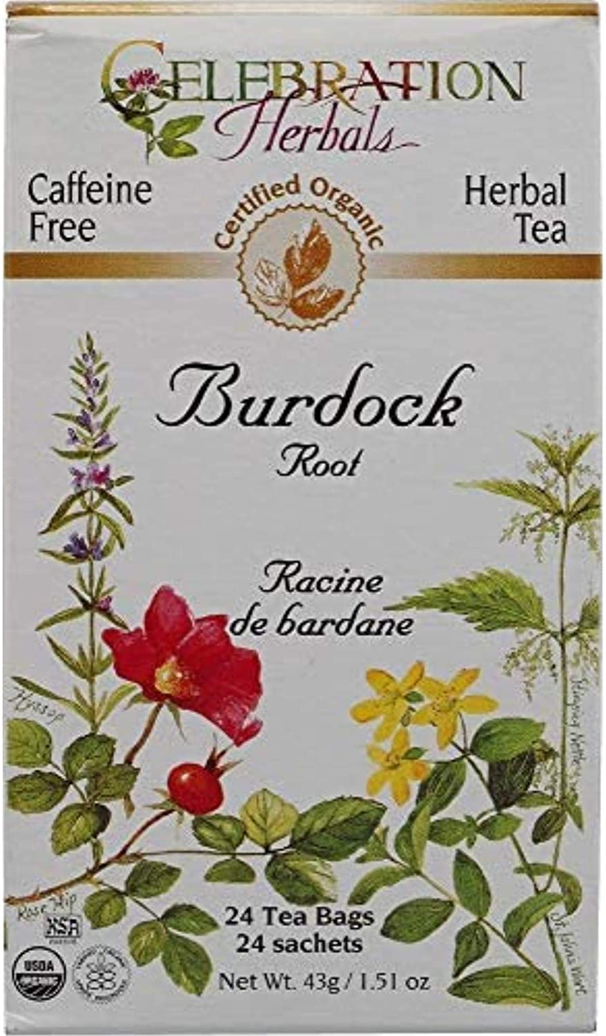 Celebration Herbals Teabags Herbal Tea Burdock Root Organic - 24 Herbal Tea Bags