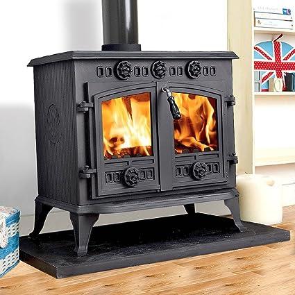 lincsfire 12 kW Sudbrooke hierro fundido, estufa de leña, Multifuel Log quemador diseño de