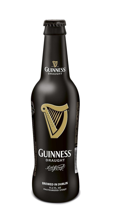 Guinness - Draught - Cerveza negra, Botella Cristal 33 cl (1 unidad): Amazon.es: Alimentación y bebidas