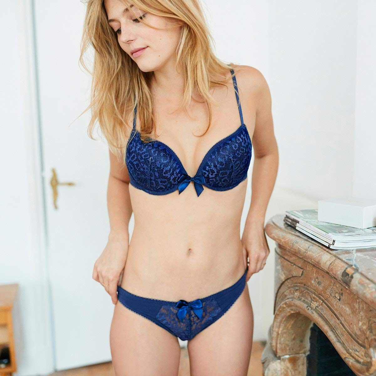 La Redoute Collections Womens Lace Push-Up Bra