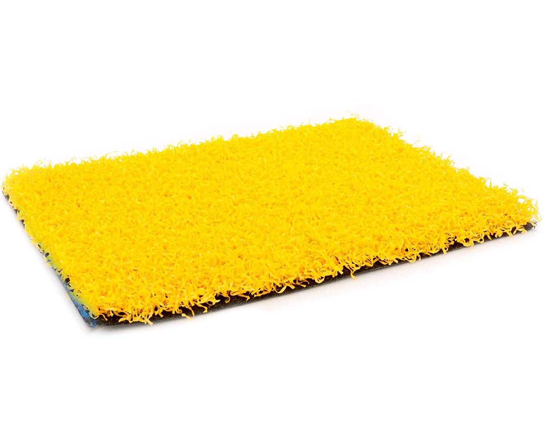 Kunstrasen Gelb FUN4YOU 2,00m x 5,00m - Wasserdurchlässiger, UV-Beständiger, Stoßdämpfender Rasenteppich, Tuftrasen