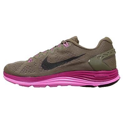 9712c43d42e Nike Womens Lunarglide Plus 5 - Light Grey Bright Magenta - UK 6