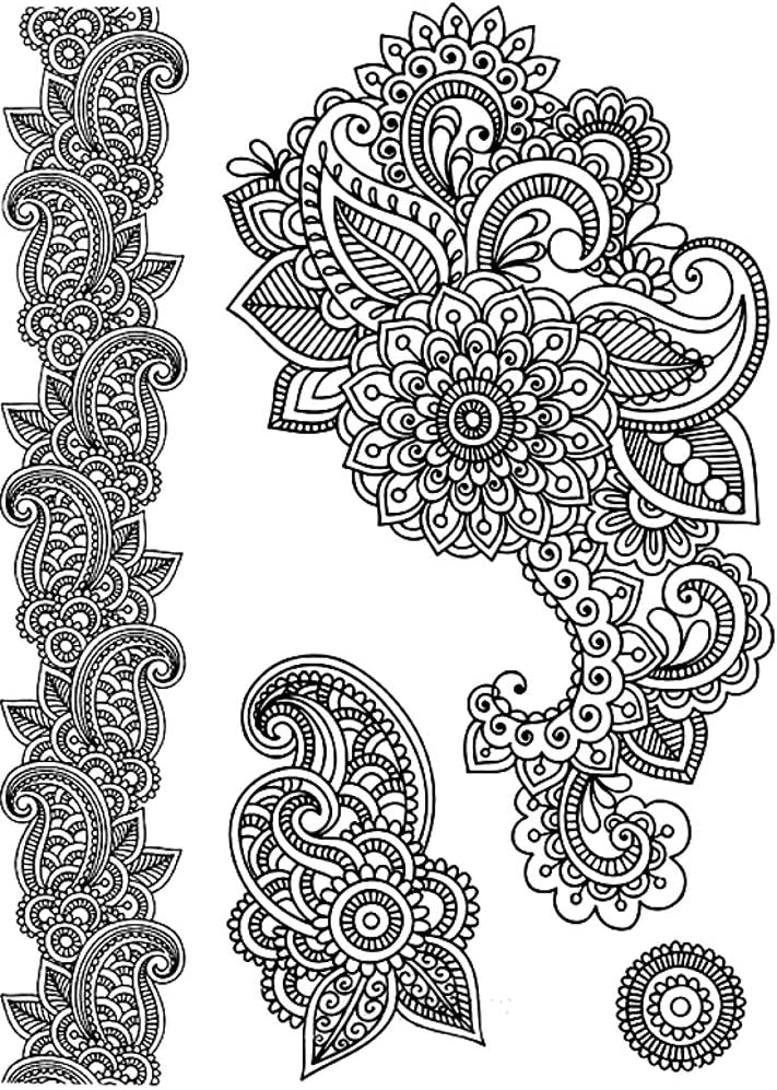 Tatuajes temporales de flores mandalas, para hombre y mujer ...