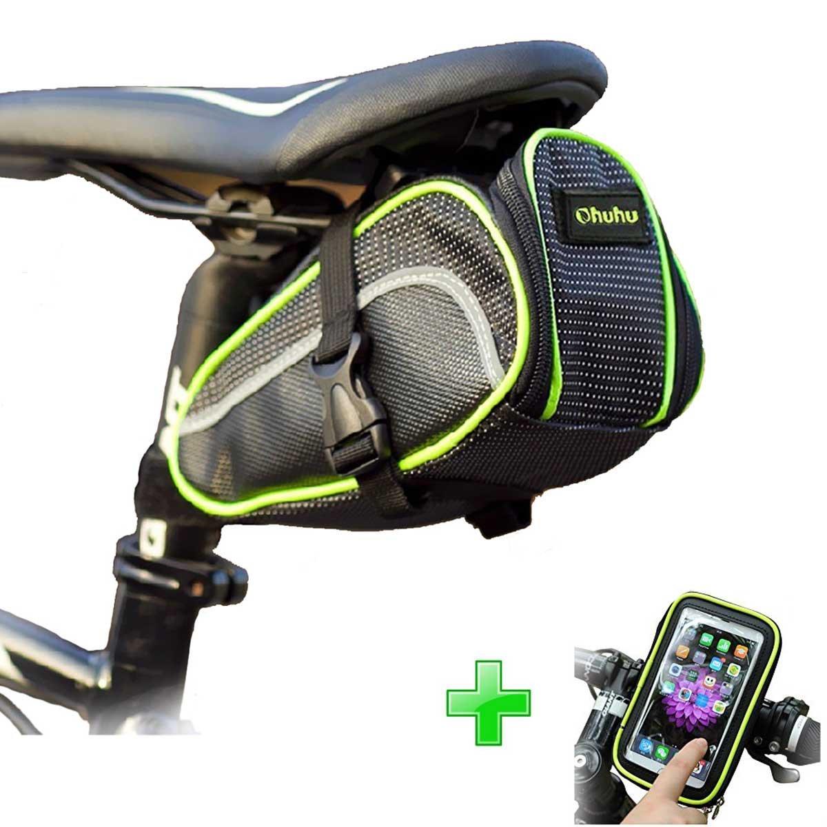 Ohuhu Bicycle Strap-on Saddle Bag / Seat Bag + Bike Phone Holder Bag