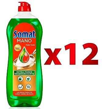 Somat Mano Poder Verde Lavavajillas - Paquete de 12 x 710 gr: Amazon.es: Salud y cuidado personal