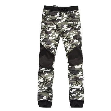Refuelr Mens lápiz Pantalones Militares Sueltos Pantalones cómodos ...