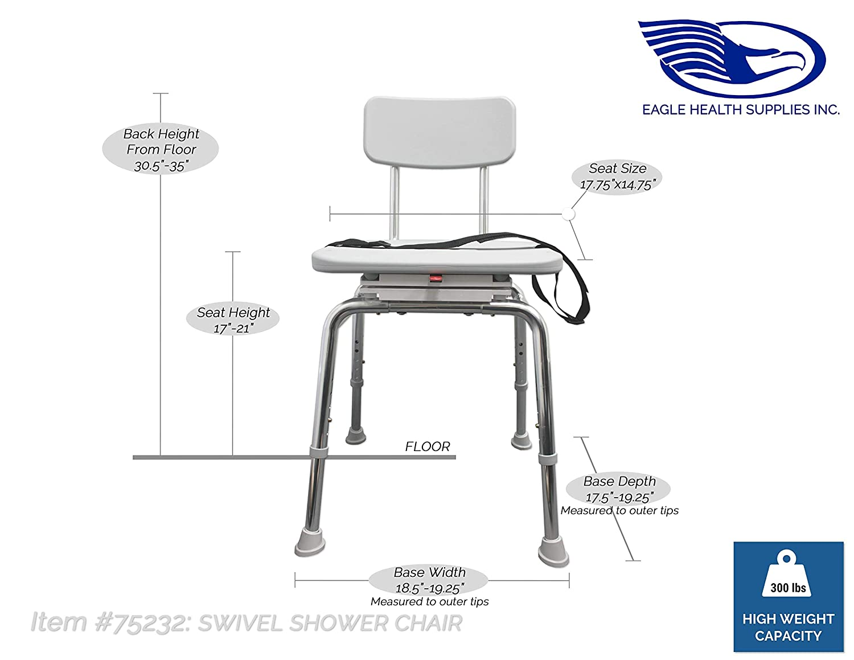 Amazon.com: Eagle Health Supplies - Swivel Shower Chair (75232 ...