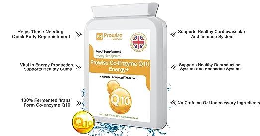 Prowise Co-Enzima Q10 (CoQ10) 300mg 60 cápsulas vegetarianas - Rápida liberación de alta absorción - Reino Unido Fabricado GMP Calidad Asegurada Co-Q-10 ...