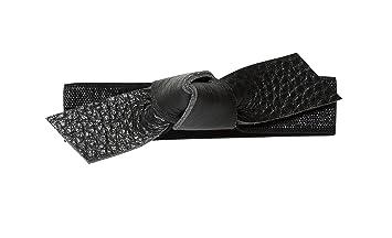 medium Genuine leather small largeBlack  |REDUCED Leather Hair Bow