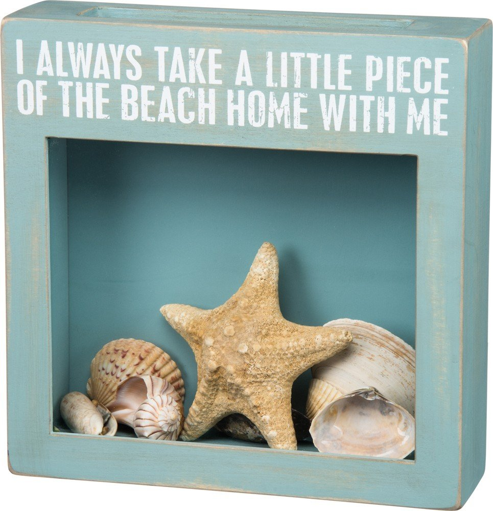Primitives By Kathy 24673 Beach Cork Holder, 10-Inch Square, With Me