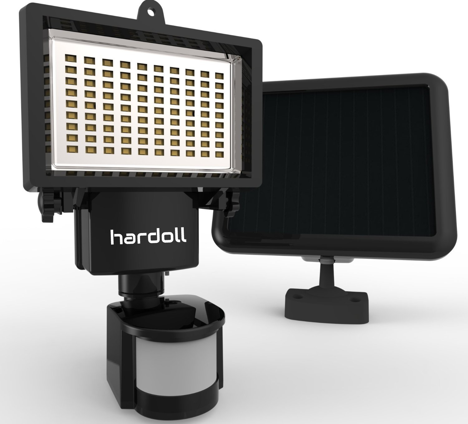 Hardoll 90 LED Solar Powered Security Lights (Black)