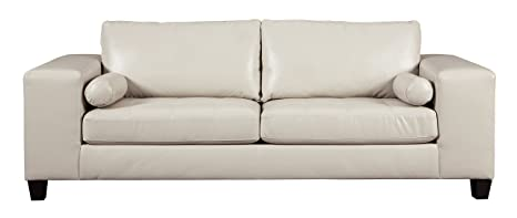 Magnificent Ashley Furniture Signature Design Nokomis Contemporary Faux Leather Sofa Sleeper Queen Size Mattress Included Arctic Ibusinesslaw Wood Chair Design Ideas Ibusinesslaworg