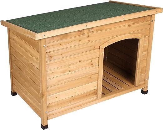 ELIGHTRY Caseta de Perros para Exterior Casa para Perro de Madera Jaula para Perros Gatos Animales pequeños para Jardin Impermeable 103 x 66 x 71cm YDMGL0001: Amazon.es: Productos para mascotas