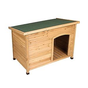 Elightry Caseta de Perros para Exterior Casa para Perro de Madera Resistente Impermeable 103 x 66 x 71cm YDMGL0001
