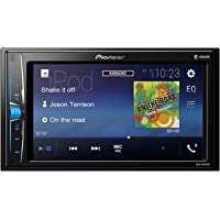 Pioneer MVH-A200VBT 2DIN Autoradio 15,7 cm (6,2 Zoll) Media Receiver für Audio Video USB, Clear-Resistive-Touchscreen Schwarz