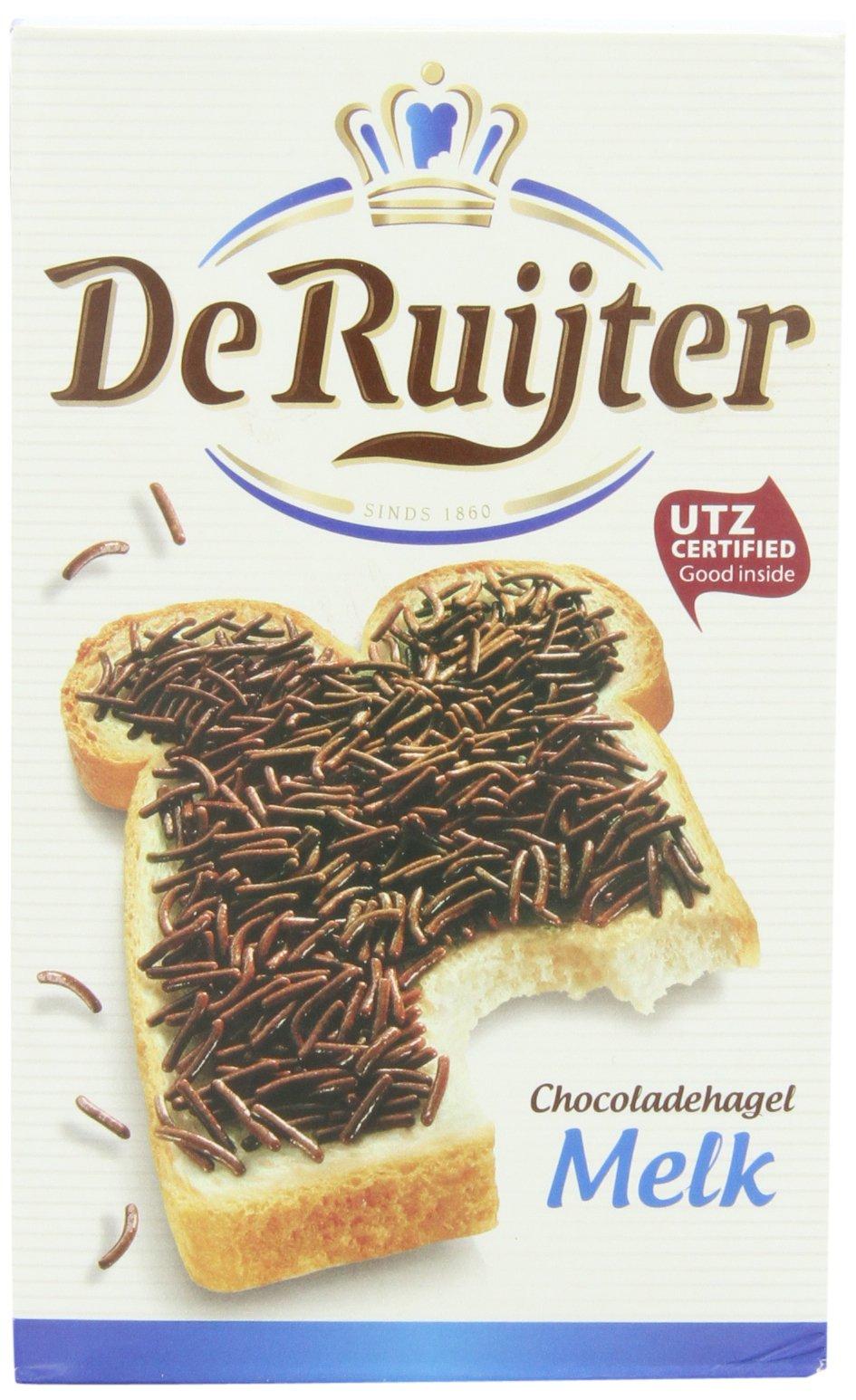 Deruyter Chocoadehagel Melk(Milk Chocolate Sprinkles), 14-Ounce Boxes (Pack of 3)