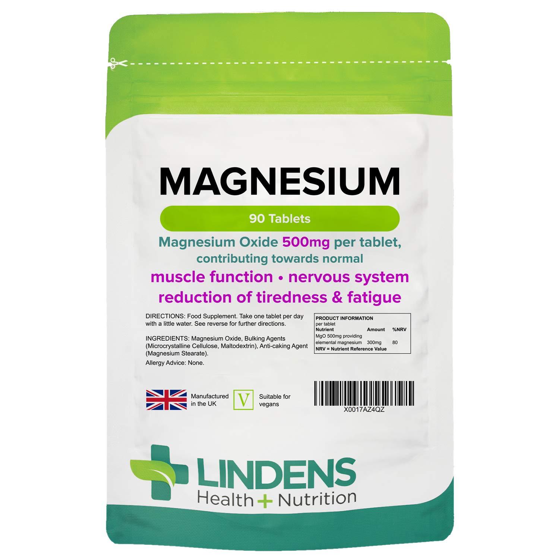 Lindens Magnesium 500mg 90 Pack