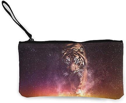 Billetera, Monederos, Cute Canvas Clutch Star Sprinting Tiger Monederos Wallet Money Cash Bag Make Up Bag Phone Pouch Zipper Pouch: Amazon.es: Equipaje