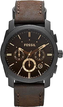 Fossil Reloj Cronógrafo para Hombre de Cuarzo con Correa en Piel FS4656: Fossil: Amazon.es: Relojes
