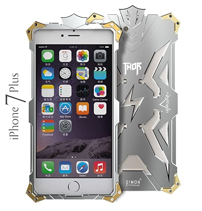 sale retailer a8dac a1b3c iPhone 7 Plus Case, Lwang Aviation Aluminum Anti-scratch Strong Protection  Metal Case for iPhone 7 Plus , Hollow Design Full Signal iPhone 7 Plus Thor  ...