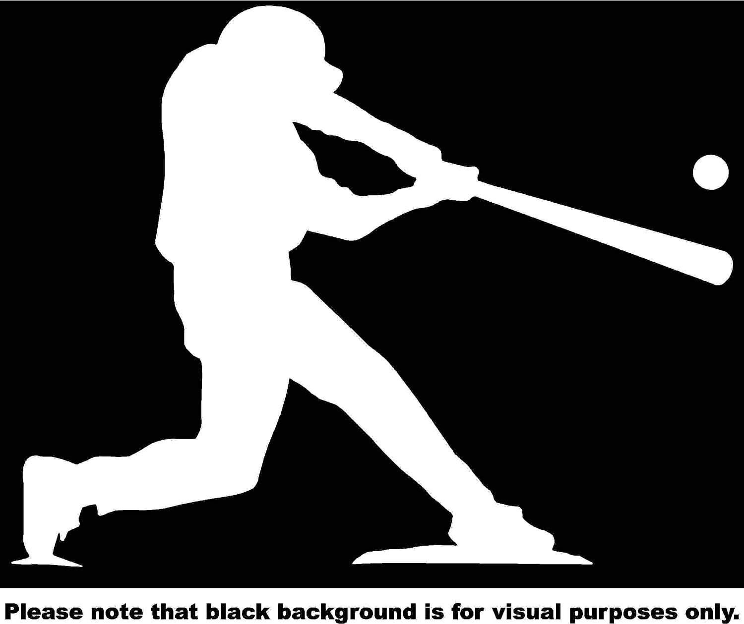 Baseball Player at Bat Silhouette Car Window Tumblers Wall Decal Sticker Vinyl Laptops Cellphones Phones Tablets Ipads Helmets Motorcycles Computer Towers V and T Gifts