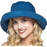 EEVASS Femme Casquettes Visi/ères Chapeau /à Large Bord Page Pliable Chapeau de Paille /ét/é Plage