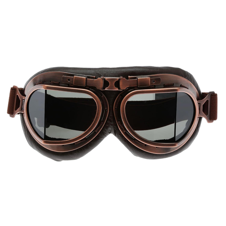 Helm Steampunk Vintage Sonnenbrille Schutzbrille fü r Outdoor Sport Motocross Smoke Glas 2 MUXSAM