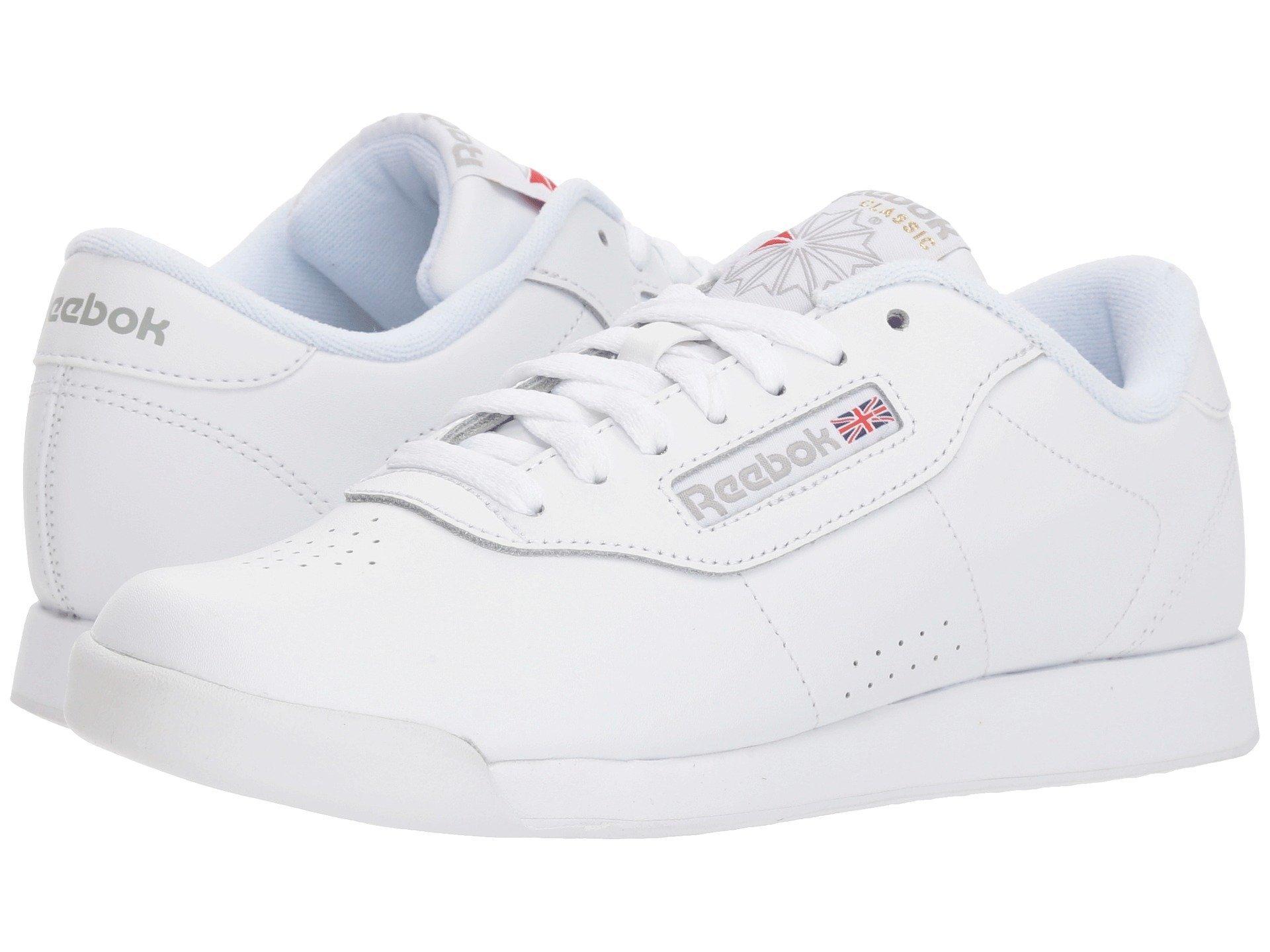 Reebok Women's Princess Sneaker,White,5.5 W