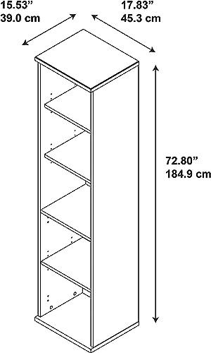 Bush Business Furniture Series C 18W 5 Shelf Bookcase, Hansen Cherry
