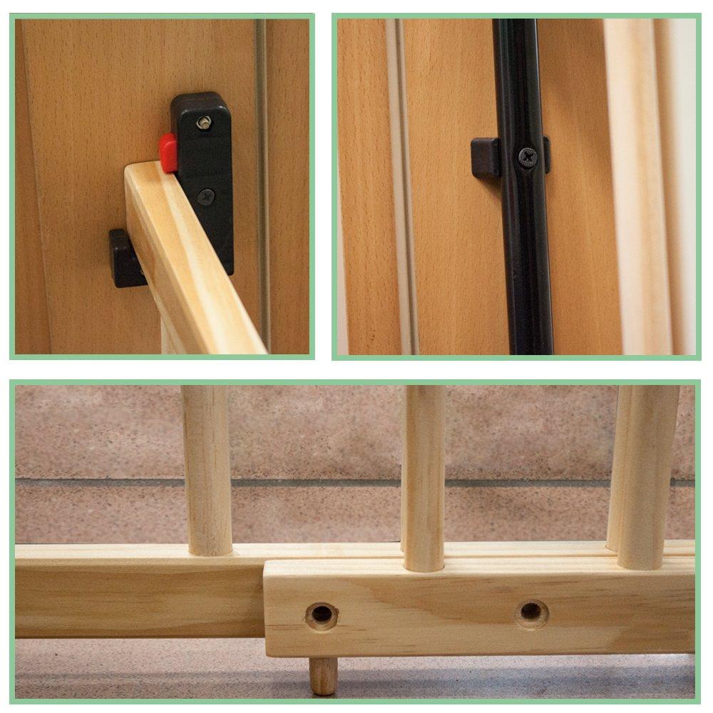 TecTake Barrera de seguridad para puertas y escaleras para niños ...
