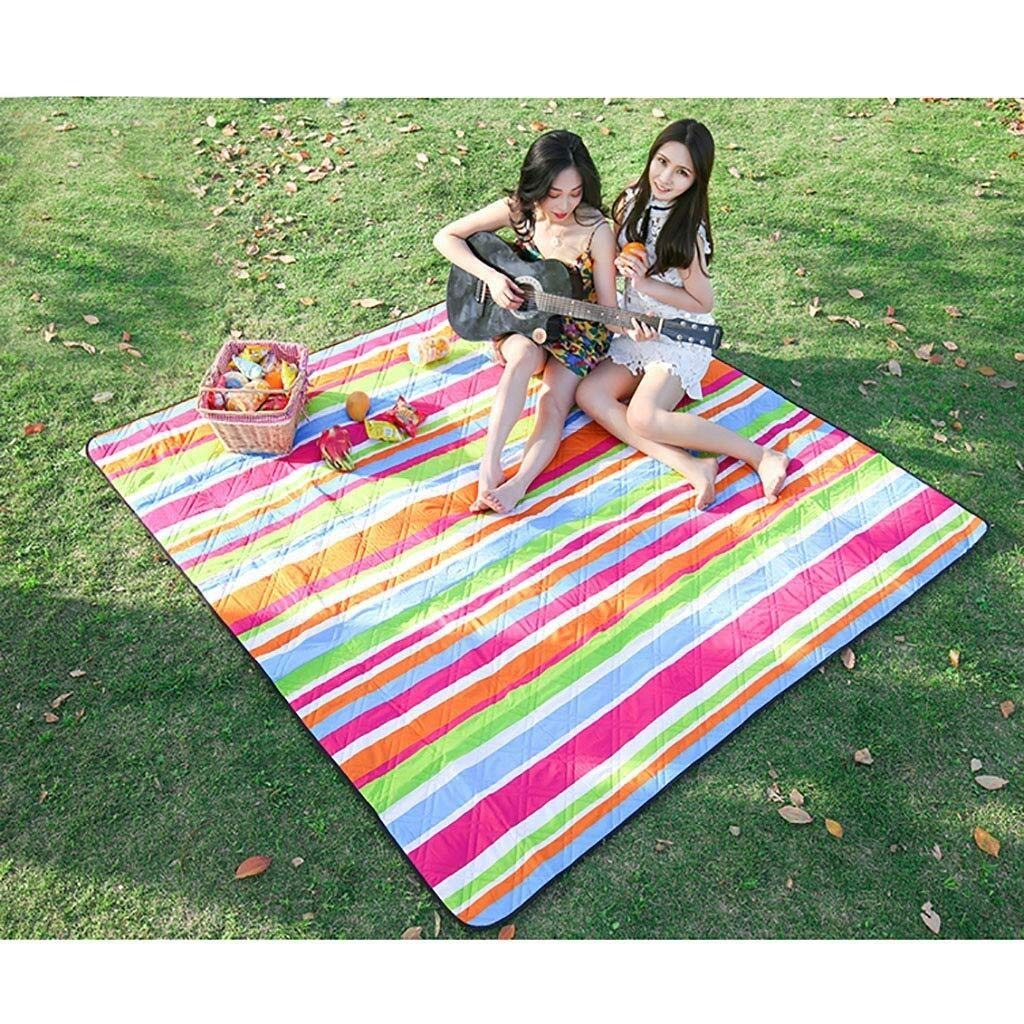 ZKKWLL Picnic Blanket Picnic Blanket Large Outdoor Carpet mat Waterproof Folding Camping Bag Lightweight Oversized Carpet Beach mat by ZKKWLL