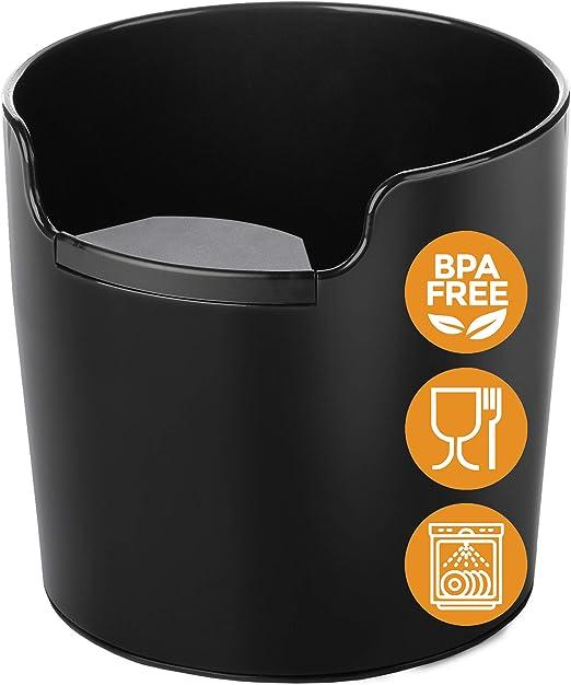 NUEVO: Homeffect® Knock Box con Manejo Mejorado. Innovador Cajon Posos Cafe, Golpeador Cafe - Cafetera Barista Accesorios para Máquinas de Espresso para la recogida y el reciclaje de los Posos Cafe: Amazon.es: