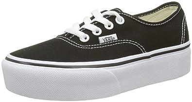 Vans Authentic Platform Schwarze und weiße Skate Schuhe :