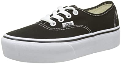Vans Women's Authentic Platform 2.0 Trainers, Black (Black Blk), 5.5 UK 38.5 EU