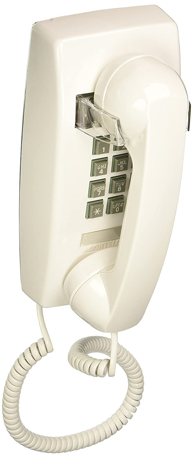Cortelco 255415-VBA-20MSingle Line White Wall Telephone