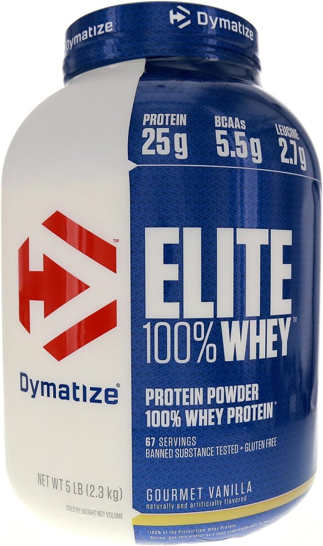 Dymatize Nutrition Elite Whey Protein Powder, Gourmet Vanilla, 5 Pound