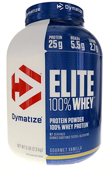 894deab2b Image Unavailable. Image not available for. Color  Dymatize Nutrition Elite  Whey ...